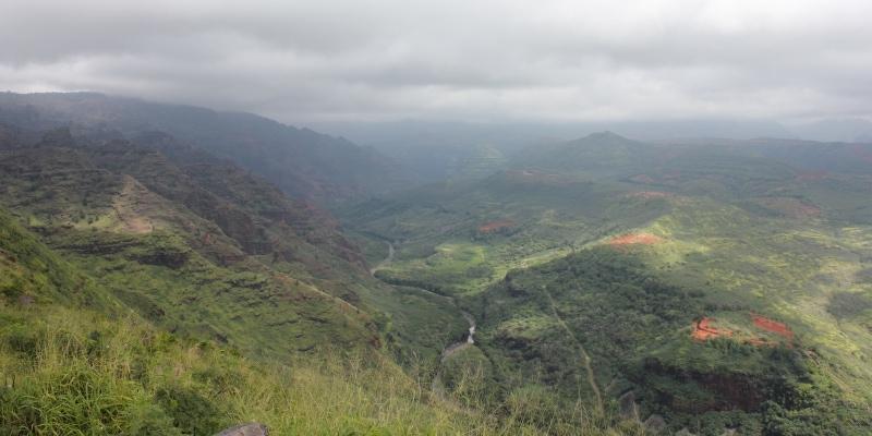 Waimea Canyon Kauai on a cloudy day - Hawaiianly