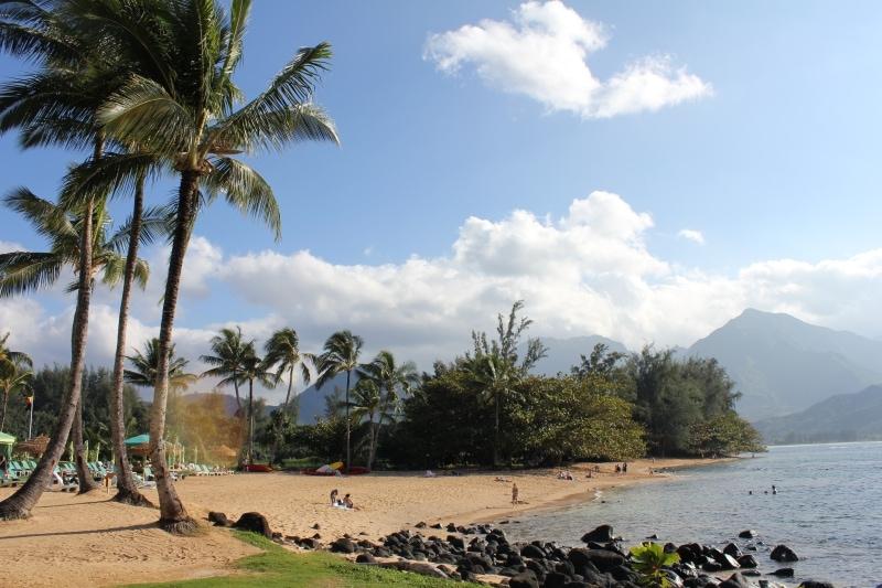Hanalei Bay Beach Kauai - Hawaiianly