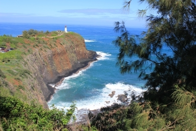 Looking down at the Kilauea Lighthouse on Kauai - Hawaiianly