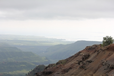 Looking out to the Pacific Ocean from Waimea Canyon - Hawaiianly